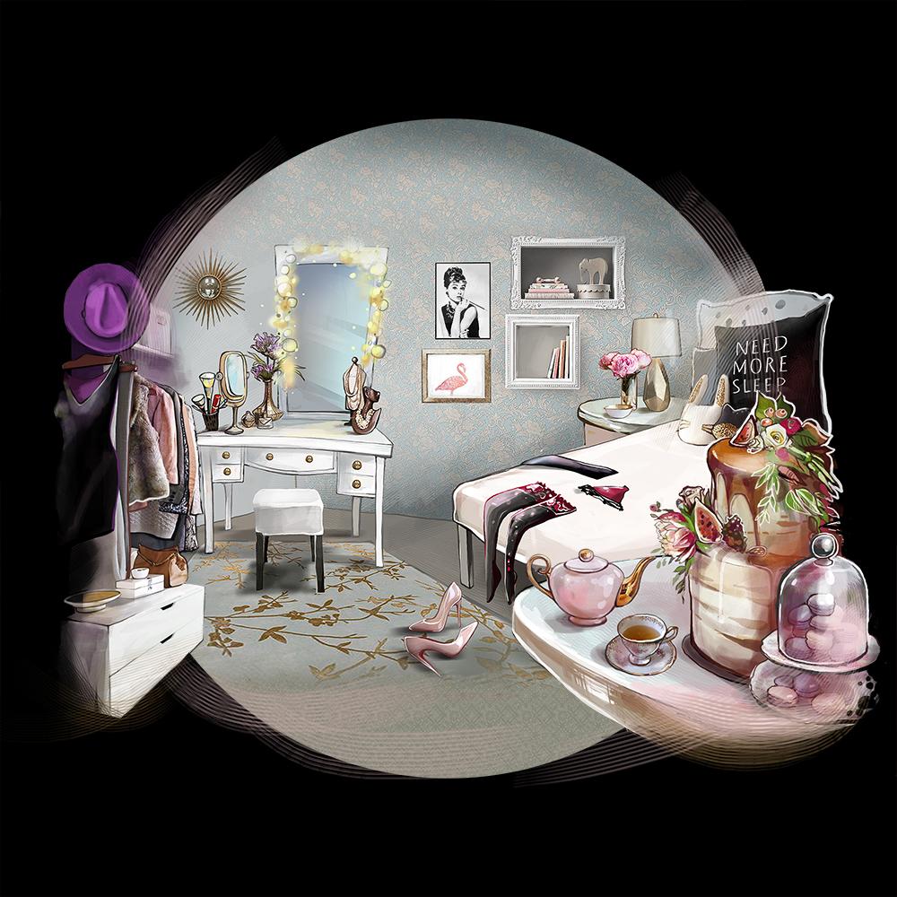 Illustrations for Ladyzone Magazine, Ирина Памятних