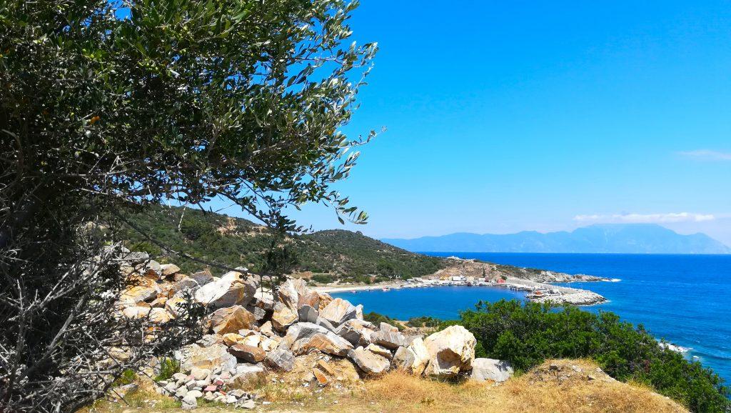 Сарти, Гърция, море, фрийланс, фрийлансър, откъде работя днес